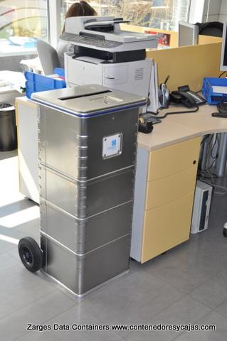 contenedor de aluminio con cierre 130 litros LOPD