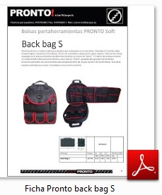 Descarga Ficha Pronto Back bag S